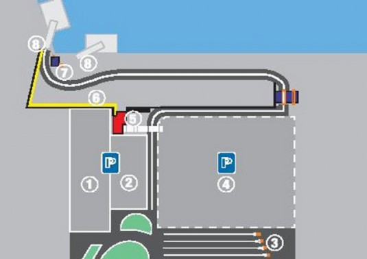 Parking of the terminal