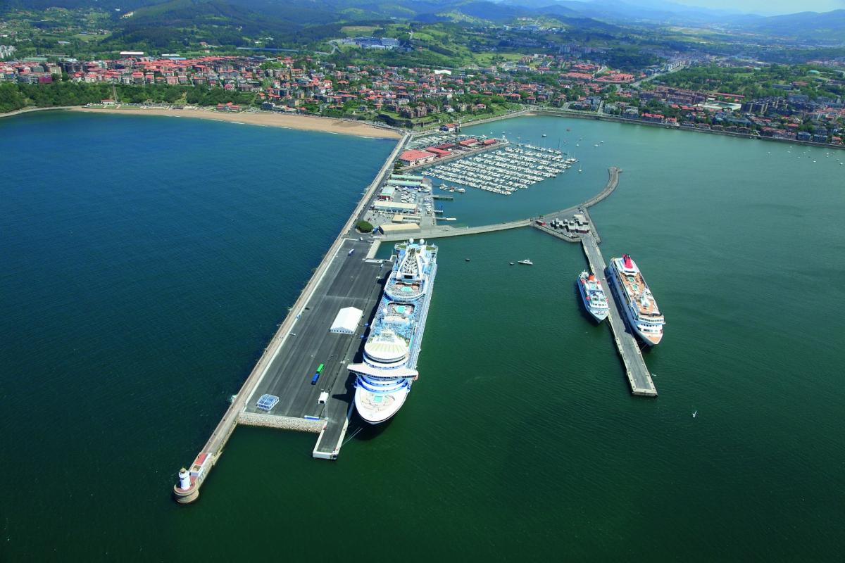 Vista de la terminal de cruceros
