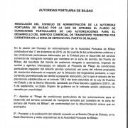 Pliego de Condiciones Particulares de las autorizaciones para el servicio comercial de transporte terrestre por carretera en la zona de servicio del puerto de Bilbao