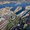 Vista de algunas terminales del puerto