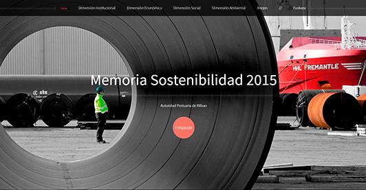 Enlace al microsite de la Memoria Sostenibilidad de la Autoridad Portuaria de Bilbao