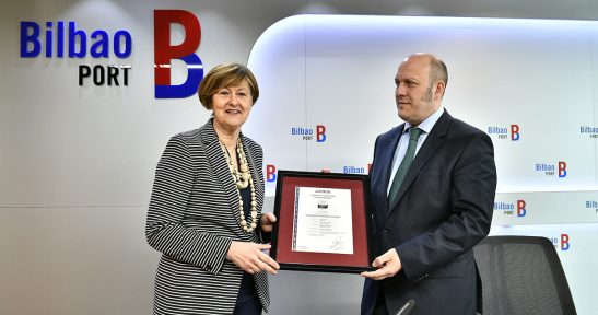 Port Authority of Bilbao, first port entity to receive AENOR Healthy Company Certification