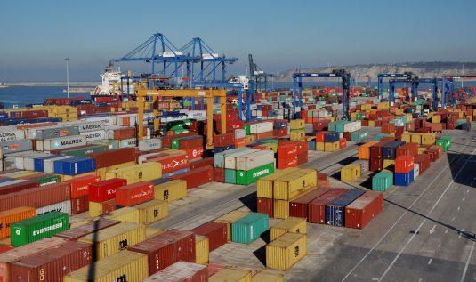Terminal de contenedores del puerto