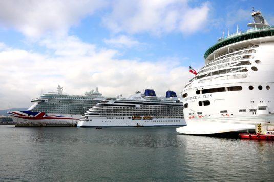 Vista de los 3 cruceros