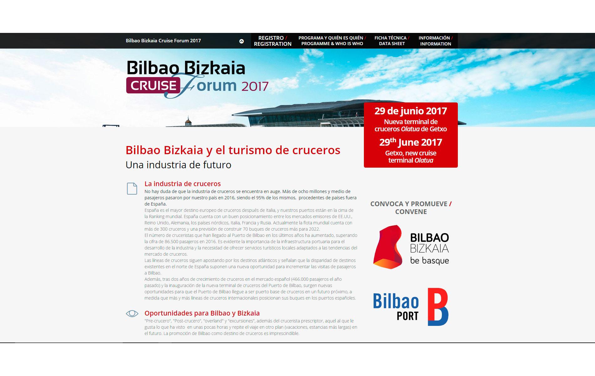 Bilbao Bizkaia Cruise Forum 2017