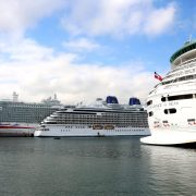 Port of Bilbao welcomes for first time some 9000 tourists on same day aboard three cruise vessels