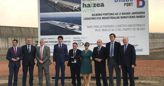 Construction works commence on marine wind tower manufacturing plant for Haizea Wind in Port of Bilbao
