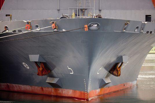 Detalle de proa de un buque
