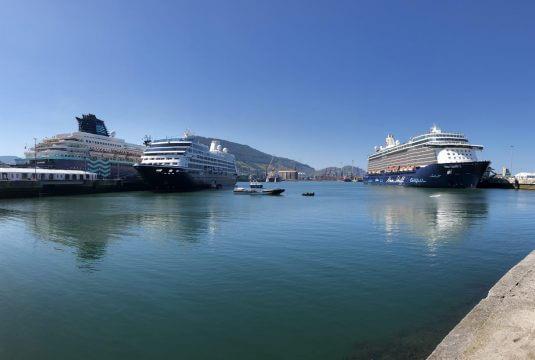 Cruceros en el puerto de Bilbao