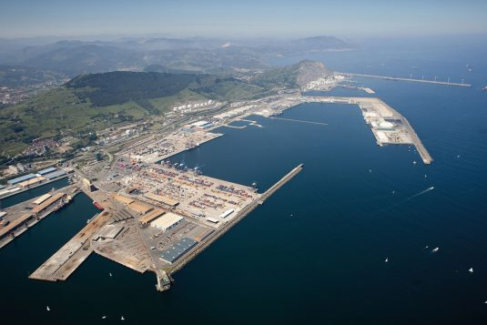 Wide view of the port