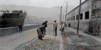 Ribera de Deusto: reparación de las vías del tranvía (1934)
