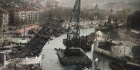 Bilbao: construcción del puente del Ayuntamiento (1936)