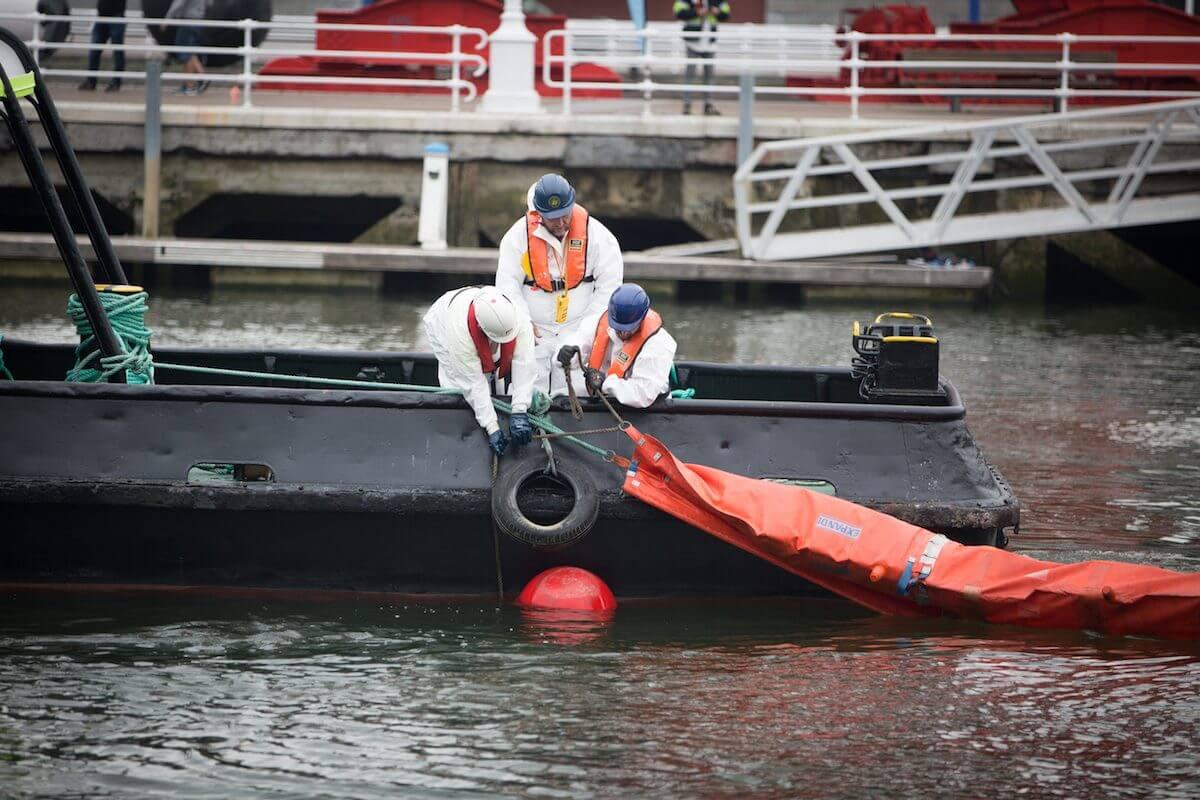 Mock marine pollution drill