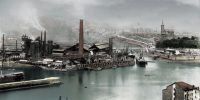 Portu basin and Altos Hornos de Vizcaya factory (1919)
