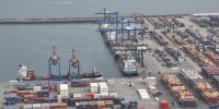 Container terminal.
