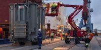 Reina Victoria Eugenia dock: project cargo.