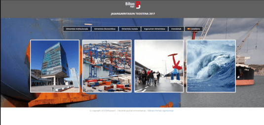 Link to the microsite of the sustainability policy of the Port Authority of Bilbao