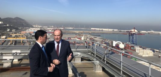 The Terrotorial Council Deputy and the Port of Bilbao Charirman