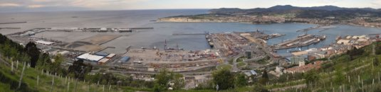 Panoramic view of the port