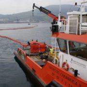 Simulacro de lucha contra la contaminación marina en el Puerto de Bilbao