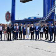 Inauguración de la ampliación de la terminal ferroviaria de la terminal de contenedores del Puerto de Bilbao