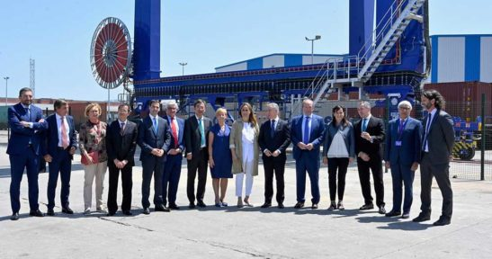 Opening of the extended railway terminal at the container terminal of the port of Bilbao