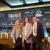 In the photograph (from left to right): Virginia López Valiente, CEO Cruises News Media Group & International Cruise Summit; Gloria Frau, Cruise Unit Manager at Port Authority of Bilbao and David Selby, Managing Director Travelyields LTD and Director of the Conference.