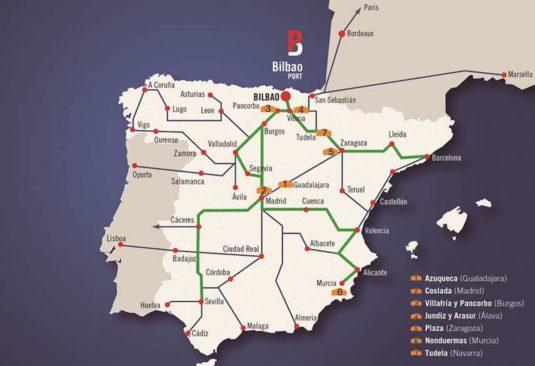Mapa de Puertos Secos