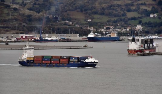 Departure of the Suardiaz Container Line´s vessel ENDEAVOR