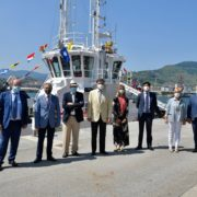Christening, blessing and commissioning of the new gas and diesel-powered tugboat in the Port of Bilbao