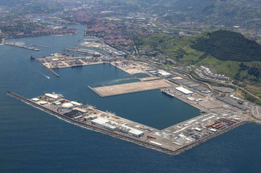 Vista de la zona de la ampliación del puerto