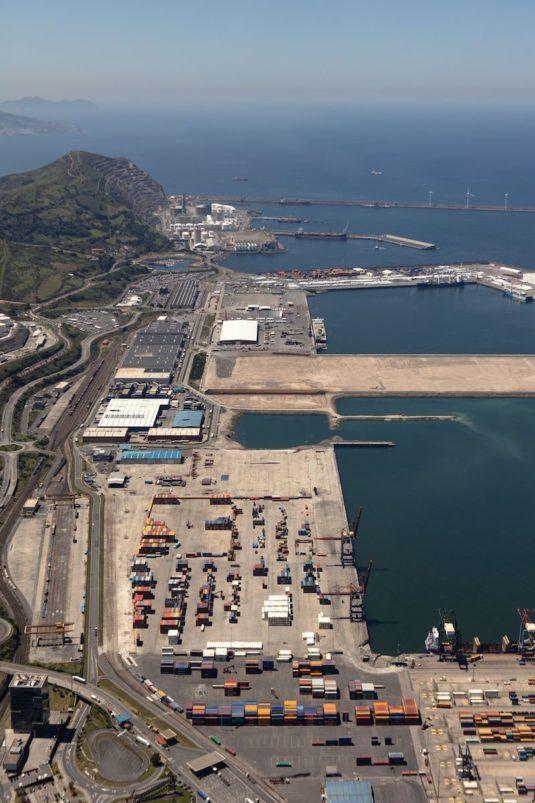 Vista del entorno de la ZAD del Puerto de Bilbao