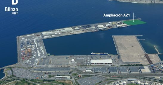 El Puerto de Bilbao ampliará en 231 metros su línea de atraque y en 49.760 m2 su superficie