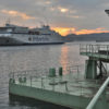 Arrival of the ferry GALICIA