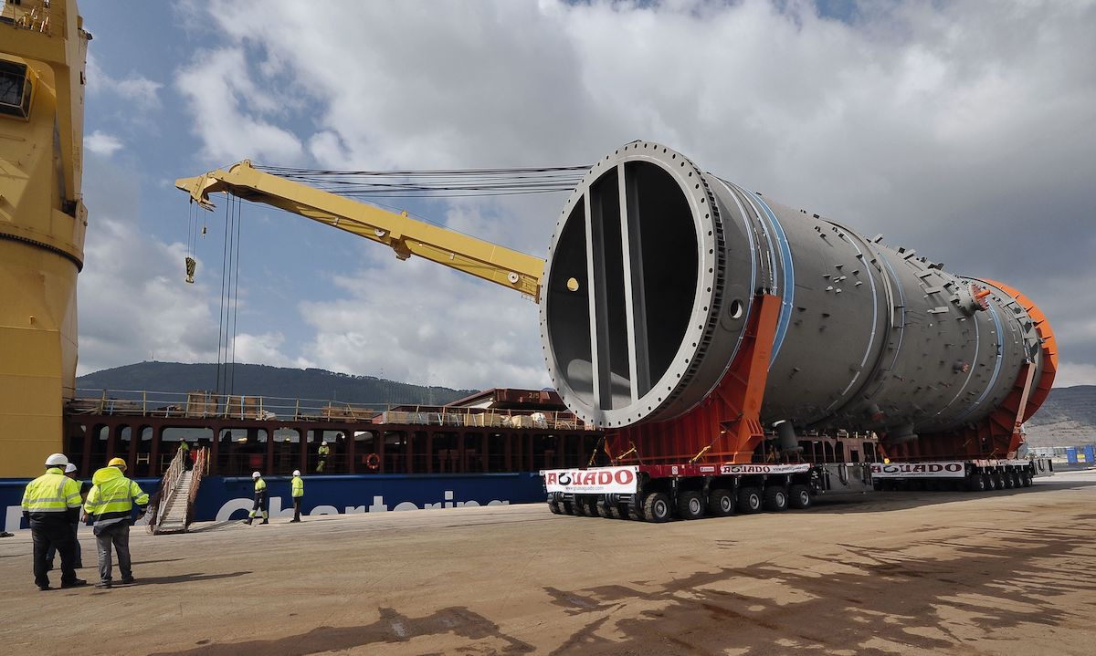 Project cargo in the port of Bilbao