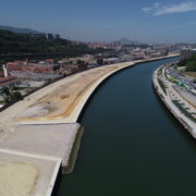 Completion of filling works on the left bank of the Deusto Canal
