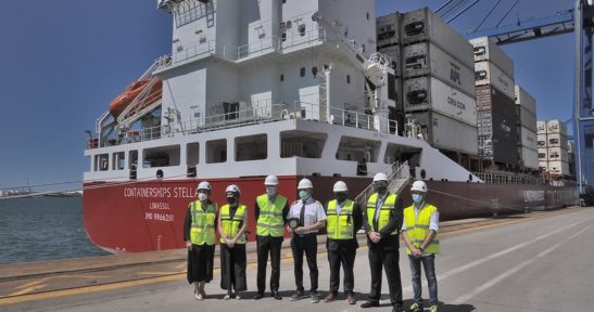 Containerships Stellar, segundo portacontenedores a GNL que atraca en junio en el Puerto de Bilbao