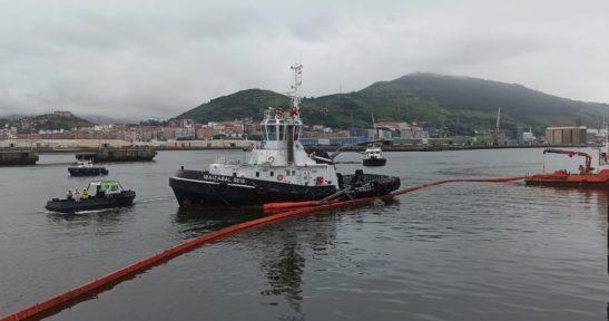 Puesto a prueba, con éxito, el Plan contra la contaminación marina accidental del Puerto de Bilbao