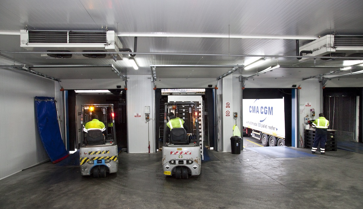 Trabajo en el almacén de Frioport Bilbao