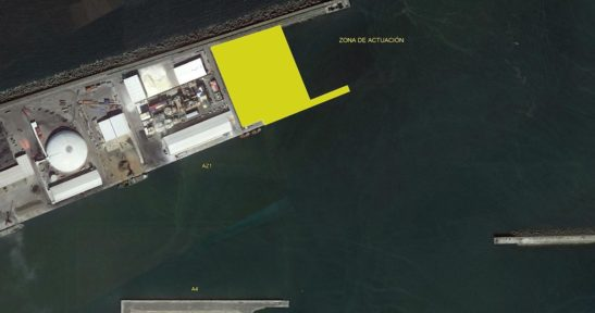 Arrancan las obras de prolongación del Muelle AZ-1 del Puerto de Bilbao
